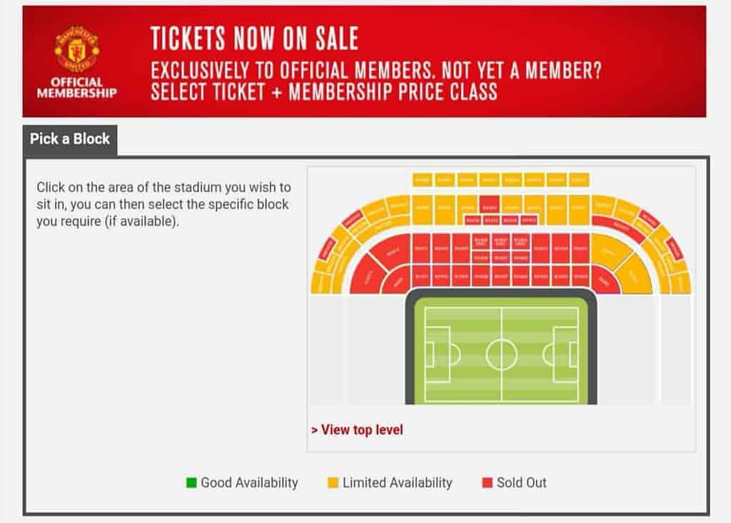 วิธีซื้อตั๋วไปดูบอลที่แมนเชสเตอร์ยูไนเต็ด อังกฤษ