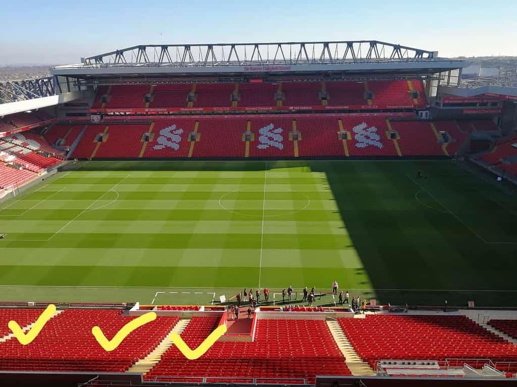 ที่นั่ง Main Stand แอนฟิลด์ Block L4-L6