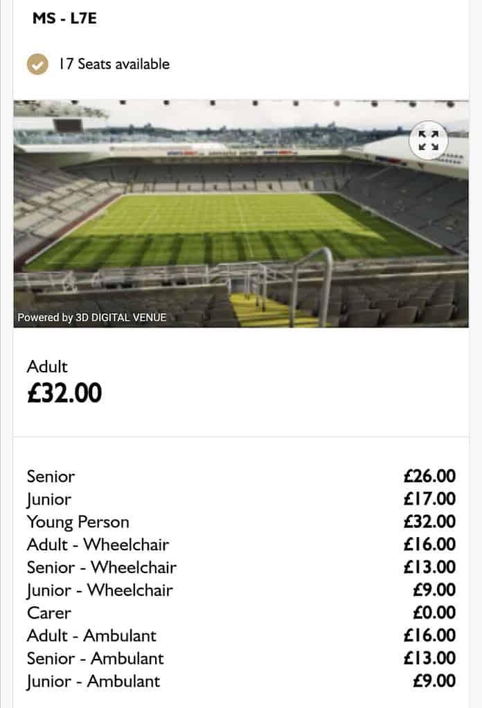 ซื้อตั๋วดูบอล พรีเมียร์ลีก อังกฤษ